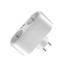 Priza inteligenta dubla wireless cu contorizare si monitorizare  consum energie,16 A compatibila Alexa si Google Assistant