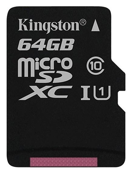 Card MicroSD KINGSTON SDXC 64GB (Clasa 10),