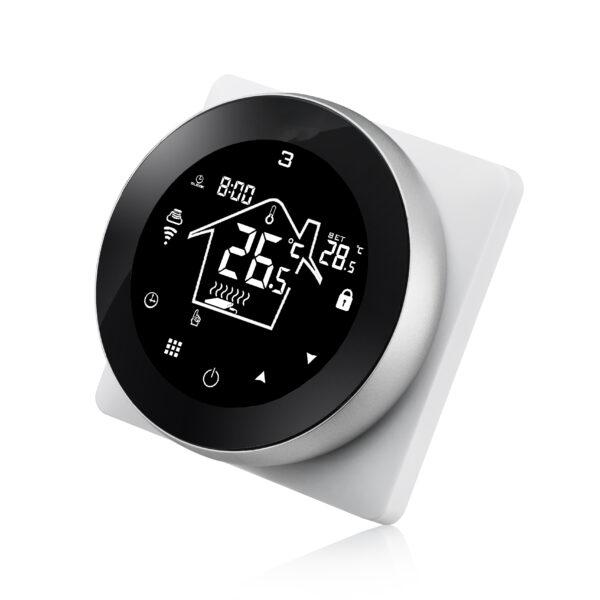 Termostat inteligent HY517 controlat prin Internet pentru centrale termice compatibil Alexa si Google Home