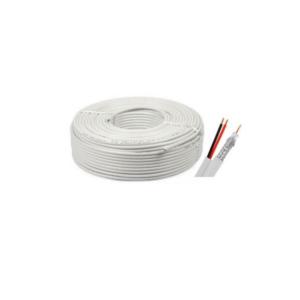 Cablu coaxial CCA RG6 + 2X0,75 alimentare 100M