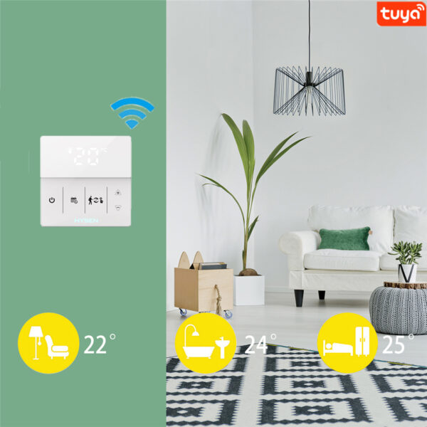 Termostat inteligent HY609 controlat prin Internet pentru centrale termice compatibil Alexa si Google Home